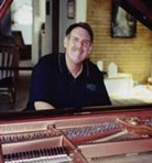 Howard Pancoast at the piano