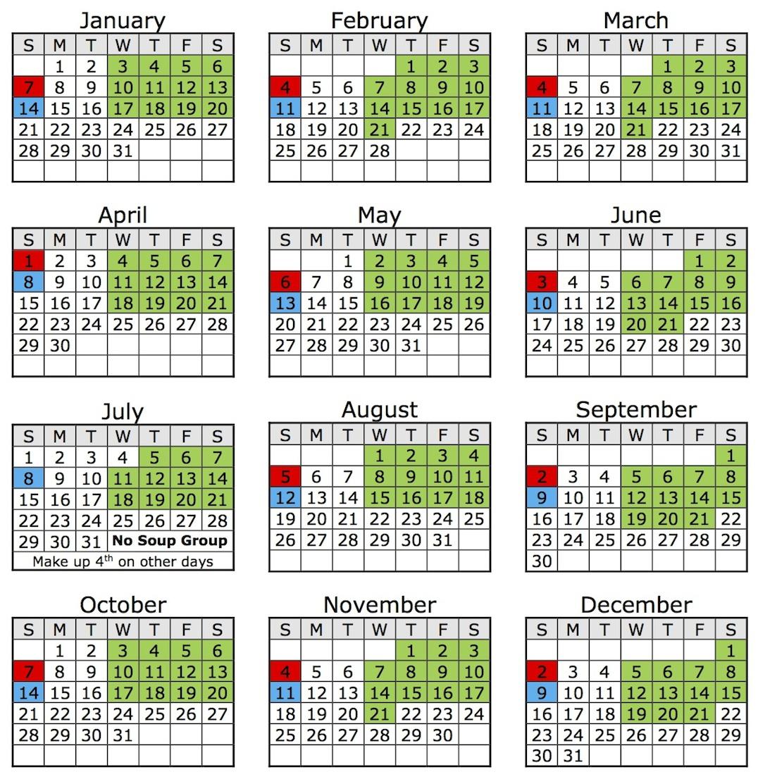 Pancoast Music Studio 2018 Calendar